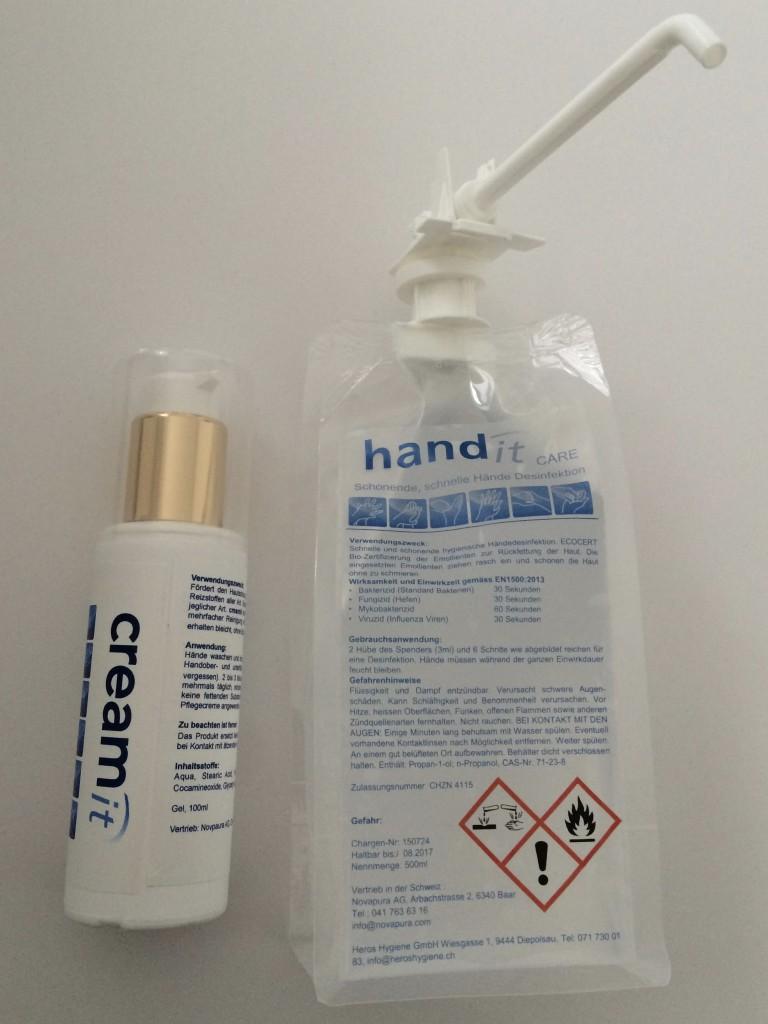 Händedesinfektion, Handcreme, Handschutz
