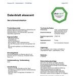 Techn.Merkblatt akascent